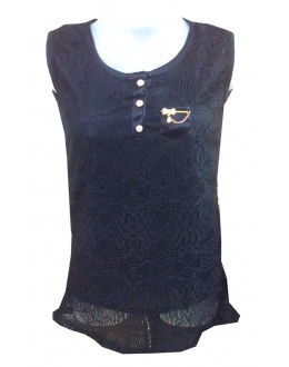 Designer Black Net Embroidered Party Wear Top - TOP40 (SD-FASHION)