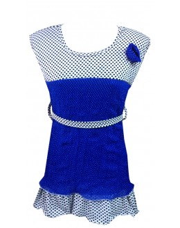 Designer Blue Georgette Flower Patch Party Wear Top - TOP7 (SD-FASHION)