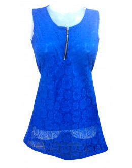Designer Blue Net Embroidered Party Wear Top - TOP19 (SD-FASHION)