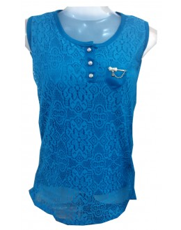 Designer Blue Net Embroidered Party Wear Top - TOP25 (SD-FASHION)