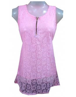 Designer Pink Net Embroidered Party Wear Top - TOP13 (SD-FASHION)