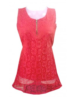 Designer Red Net Embroidered Party Wear Top - TOP16 (SD-FASHION)