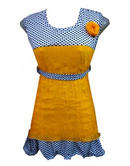 Designer Yellow Georgette Flower Patch Party Wear Top - TOP4 (SD-FASHION)