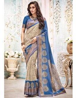 Party Wear Multi-Colour Saree  - 21144