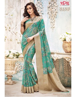Casual Wear Blue Bhagalpuri Saree  - 21146