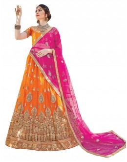 Festival Wear Yellow Net Lehenga Choli - AALIYA12003