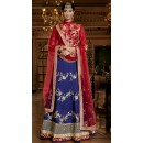Ethnic Wear Red & Blue Australian Silk Lehenga Choli - 11112