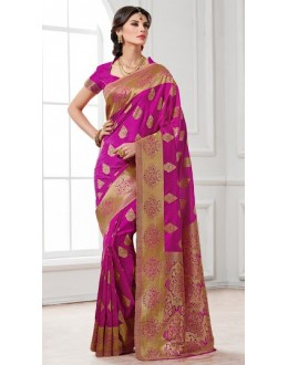 Festival Wear Pink Banarasi Silk Saree  - 2229