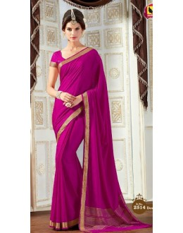 Casual Wear Pink Jacquard Saree  - 2514