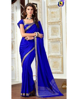 Ethnic Wear Blue Jacquard Saree  - 2516