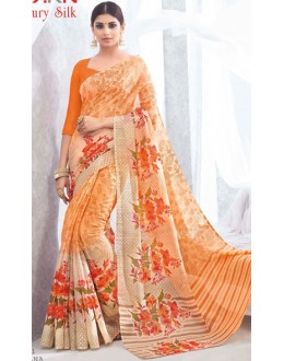 Festival Wear Orange Luxury Silk Saree  - 1611