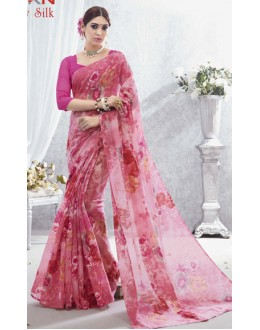Ethnic Wear Pink Luxury Silk Saree  - 1614
