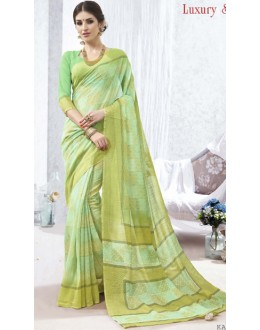 Ethnic Wear Green Luxury Silk Saree  - 1617