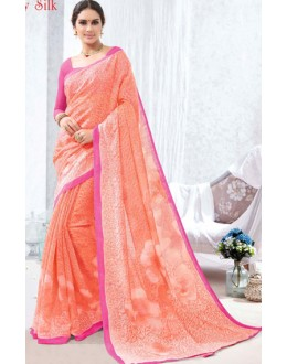 Ethnic Wear Pink Luxury Silk Saree  - 1620