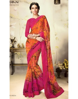 Casual Wear Multicolour Georgette Saree  - 1807