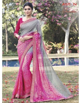 Casual Wear Brasso Chiffon Saree - AYAAN-2429