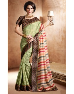 Casual Wear Multi-Colour Bhagalpuri Khadi Silk Saree  - 3234