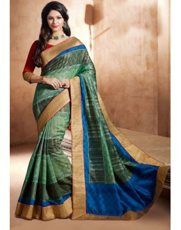 Bhagalpuri Khadi Silk Multi-Colour Saree  - 3243