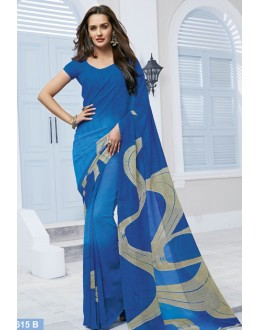 Ethnic Wear Sky Blue Marble Georgette Saree  - 11615-B