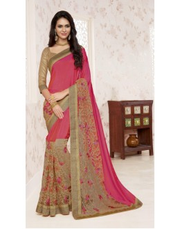 Party Wear Multi-Colour Saree  - BELA-12245