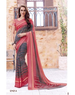 Party Wear Multi-Colour Georgette Saree  - 12421-A