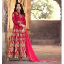 Wedding Wear Red Banarasi Silk Anarkali Suit - 1575