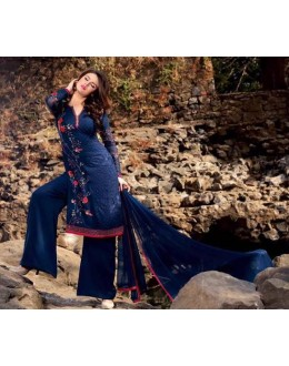 Festival Wear Blue Georgette Palazzo Suit - BELA-317-A