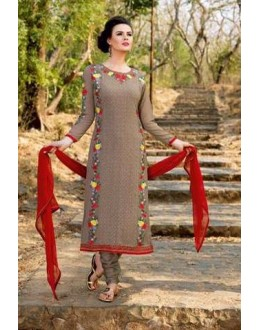 Brown Colour Georgette Salwar Suit - BELA-318