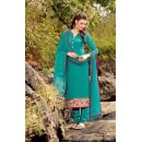 Office Wear Turquoise Georgette Salwar Suit - BELA-321