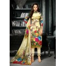 Ethnic Wear Multicolour Crepe Silk Salwar Suit  - 711
