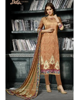 Festival Wear Brown Crepe Silk Salwar Suit  - 712