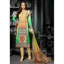 Ethnic Wear Multicolour Crepe Silk Salwar Suit  - 717