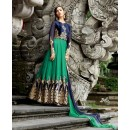 Festival Wear Velvet Embroidery Anarkali Suit  - 1308-A