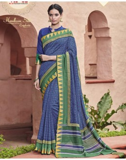 Casual Wear Blue Salem Silk Saree - VIPUL-30324