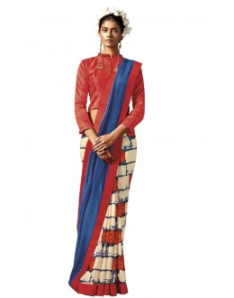 Casual Wear Multi-Colour Silk Saree - HAWWAH-809