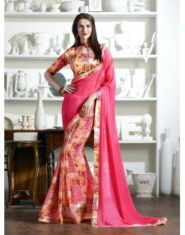 Party Wear Pink Pedding Fancy Saree  - KESSI-4902