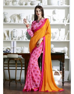 Casual Wear Multi-Colour Half & Half Saree  - KESSI-4911