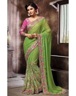 Festival Wear Green Saree - KAMIYA-4002
