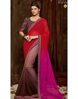 Casual Wear Multicolour Chiffon Saree  - 803