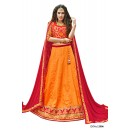 Festival Wear Orange Bhagalpuri Lehenga Choli - 12006