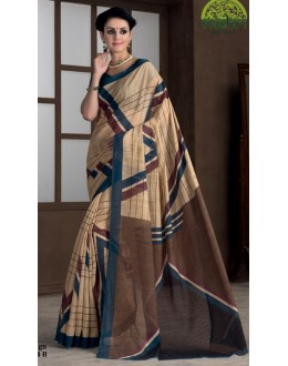 Casual Wear Beige Bhagalpuri Khadi Silk Saree  - 1804-B