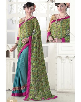 Casual Wear Multicolour Georgette Saree  - 1917