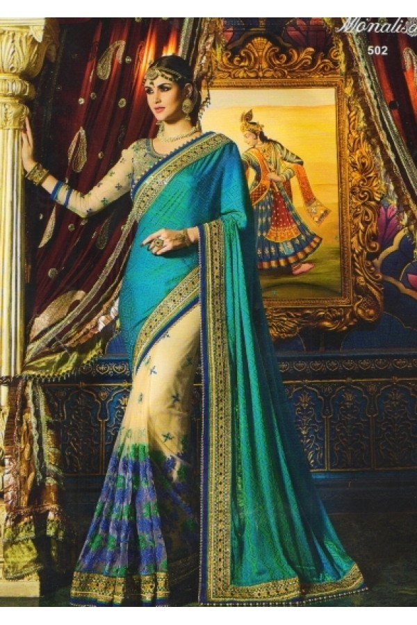 Ethnic Wear Multicolour Crepe Jacquard Saree  - 502