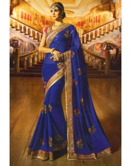 Ethnic Wear Blue Georgette Saree  - 512