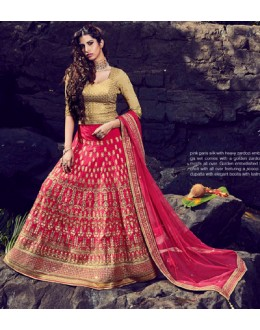 Wedding Wear Pink Lehenga Choli - NAKKASHI-10008