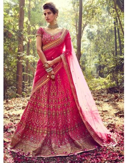 Wedding Wear Pink Lehenga Choli - NAKKASHI-10010
