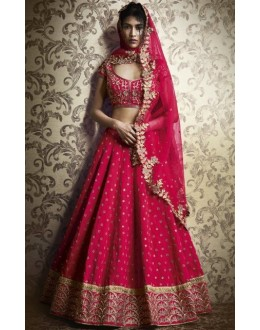 Festival Wear Pink Paris Silk Embroidered Lehenga Choli - 5060