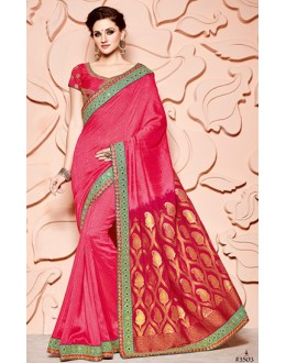 Festival Wear Pink Pure Banarasi Silk Saree  - 3503
