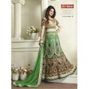 Designer Green Net Embroidered Bridal Lehenga Choli - 2006-B ( SS-Ambaji-2001 )