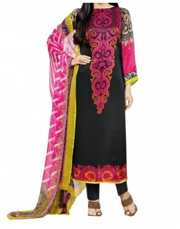 Party Wear Black Georgette Salwar Suit - EF099